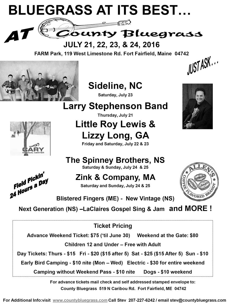 County Bluegrass flyer