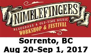 Nimble Fingers Bluegrass & Oldtime Music Workshop and Festival