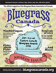 Bluegrass Canada Magazine Issue 13-1 January 2019