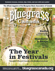 Bluegrass Canada Magazine Issue 13-2 April 2019