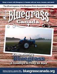 Bluegrass Canada Magazine Issue 15-1 January 2021