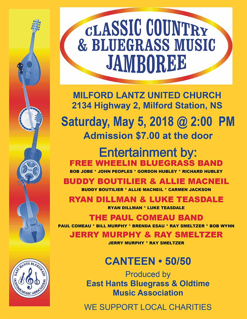 Classic Country & Bluegrass Jamboree 2018 Flyer