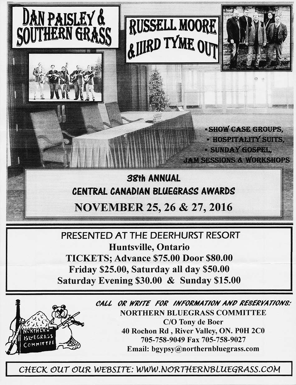 Central Canadian Bluegrass Awards