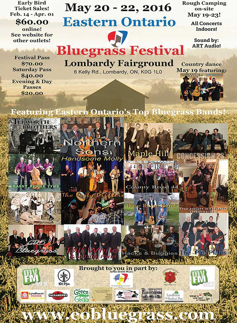Eastern Ontario Bluegrass Festival Flyer