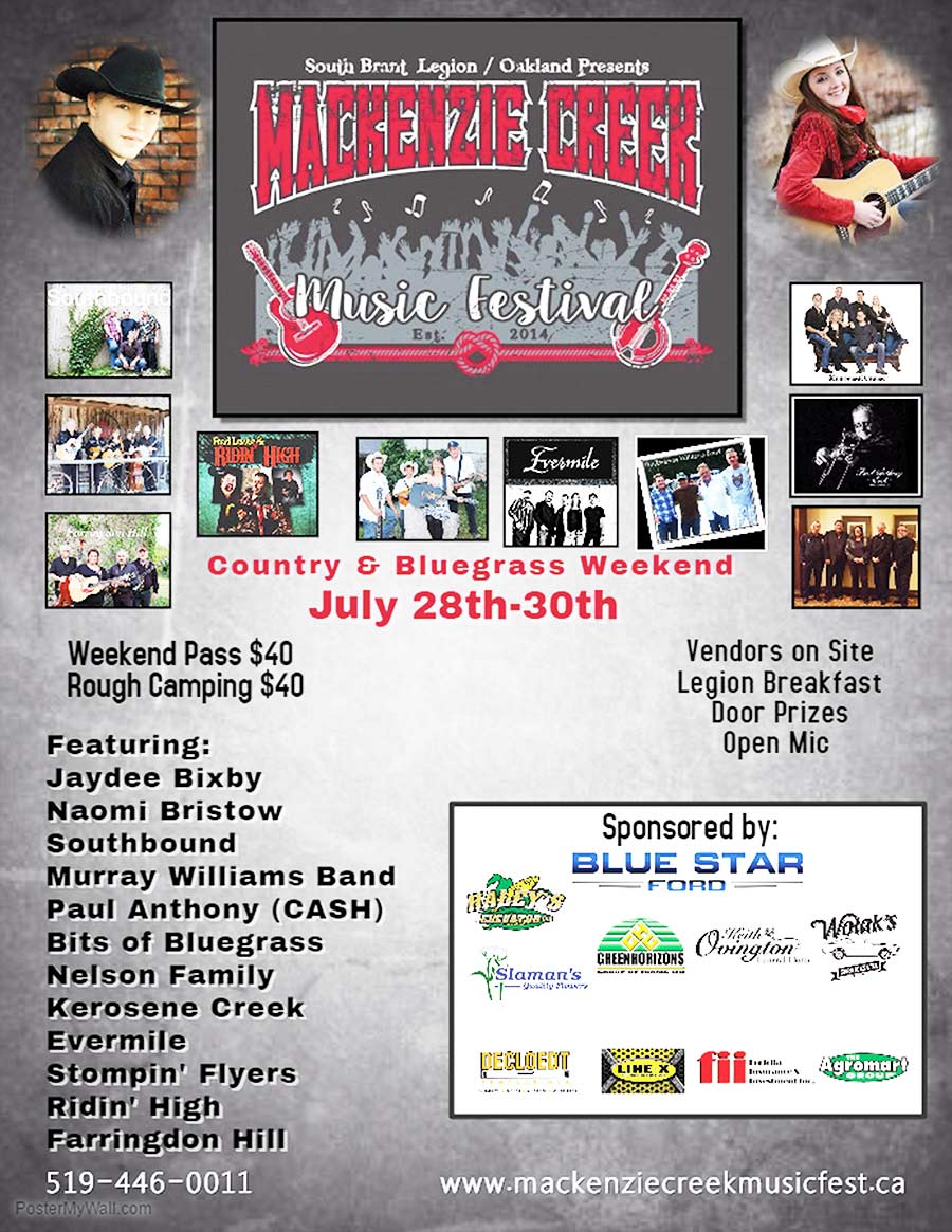 MacKenzie Creek Country & Bluegrass Festival