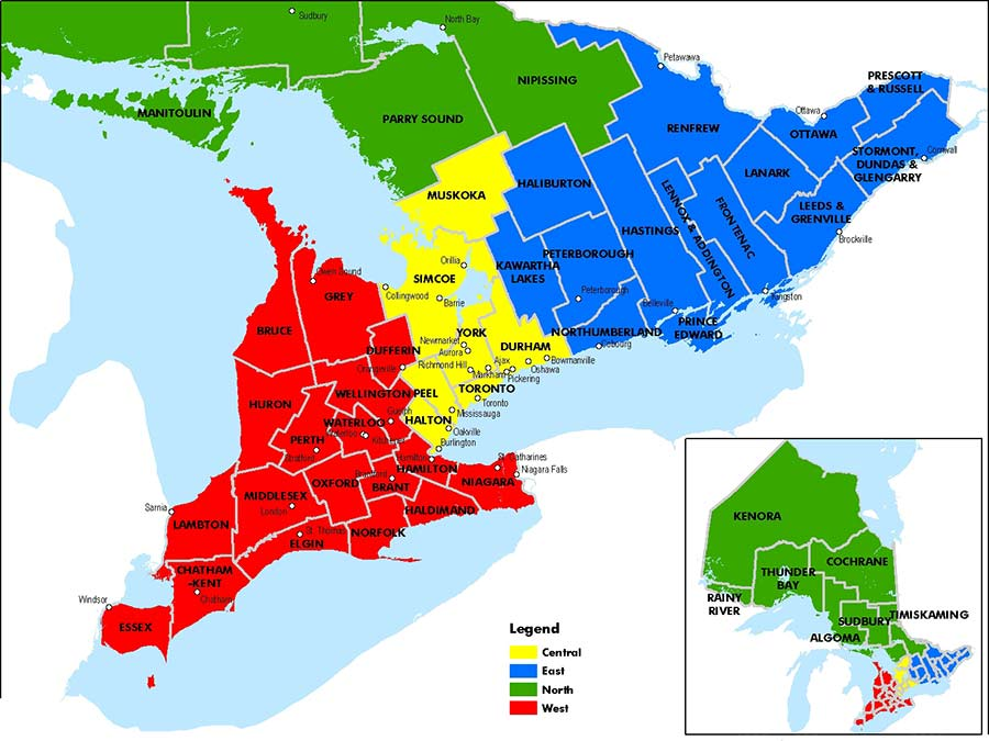 Photo of Ontario Regional Map