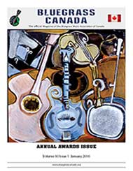 Bluegrass Canada magazine Issue 10-1 January 2016