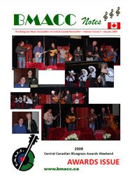 Bluegrass Canada magazine Issue 3-1 January 2009
