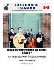 Bluegrass Canada magazine Issue 8-2 April 2014