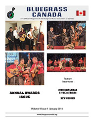 Bluegrass Canada magazine Issue 9-1 January 2015