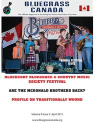 Bluegrass Canada magazine Issue 9-2 April 2015